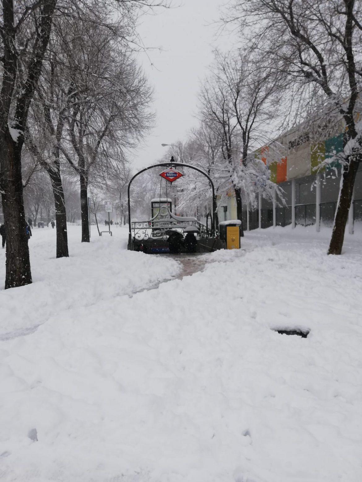 Vicálvaro, bajo la nieve